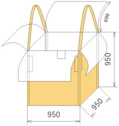 フレコンバッグ エコパレ簡易型フレコン