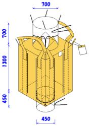 フレコンバッグ 膨らみ防止付<br />米用フレコン(上半開)