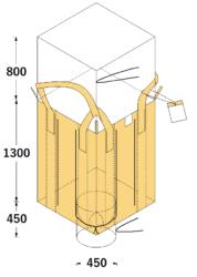 フレコンバッグ 膨らみ防止付<br />米用フレコン(上全開)